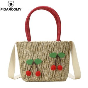Crossbody Bag Cute Mini Women Hand Cherry Beach Summer Straw & Bags Messenger Girls Shoulder Strawberry Woven Bohemian Small Jfsbd Miqjq