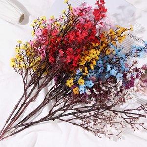 Bridal Bouquet Floral Arrangement Baby's Breath Artificial Flowers Faux Gypsophila Simulation Cherry Blossoms Wedding Ornament