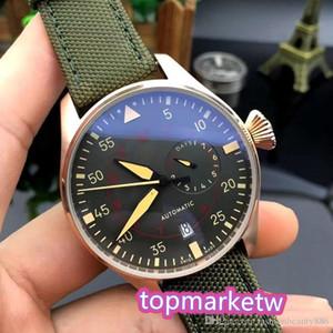 Produttore di alta qualità Designer di lusso Nuovi uomini Automatic Mechanical Classic Pilot Watch 46mm Le Petit Prince Black Leather Ploywatch MON