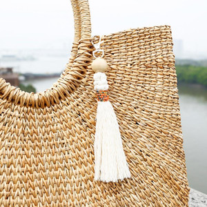 1pcs Fashion Wooden Beads Tassel Diy Jewelry Curtain Garments Decorative Accessories Key Chain Handbag Pendant Craft Tassels H jllLav
