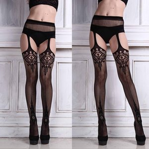 2019 New Hot Sale Sexy Womens Lingerie net Lace Top Garter Belt Thigh Stocking Pantyhose Brand New And High Quality #11