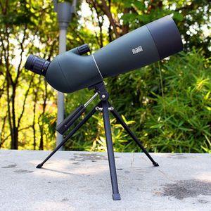 Spotting Scope Teleskop Yakınlaştırma 25-75X 70mm Su geçirmez kuşgözlem Av Monoküler Evrensel Telefon Adaptörü Dağı T191022