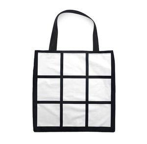 10pcs Sublimation White Blank DIY 9 Grid Peach Haut Samt Tragetasche Einzelseiten Heat Transfer Einkaufstasche