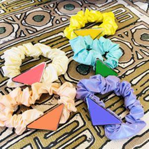 Accesorios para el cabello de la tela de la moda para las mujeres dulce rosa scrunchs wedding nupcial accesorios de pelo chicas pelos del pelo