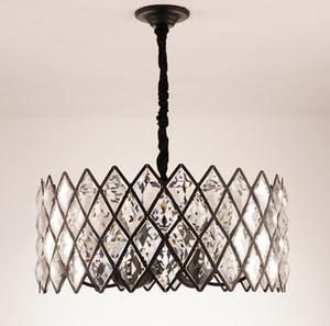 Moderner Kristall Hanging Kronleuchter Schwarz Runder Glanz Design LED Kronleuchter für Wohn-Esszimmer Lichter Schlafzimmerlampe