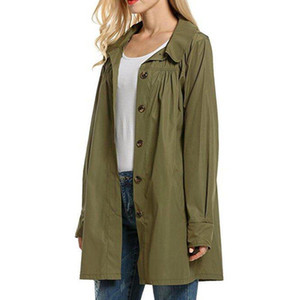 Kadın Ceketler Paketlenebilir Bayanlar Moda Tek Göğüslü Dış Giyim Kadınlar Hafif Su Geçirmez Ceket Kadın Yağmurluk Ceket