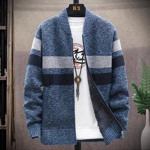 Мужские свитера мужские кардиган 2021 весенний тонкий свитер мужская уличная одежда толстая теплое пальто вязаный бейсбольный воротник куртки