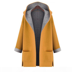 2019 Autumn Woman's Dust Coats Ladies Cardigan all-match Fashion Windproof Coat Female trench coat woollen 50