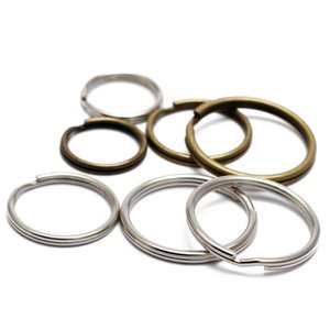 16/20 / 25mm 50pcs / lot de metal chave Titular Split Rings Unisex Keyring Keyfob Acessórios Keychain Fazendo DIY acessórios