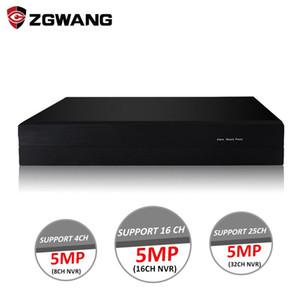 ZGWANG 5MP 8 Canal H.265X Vídeo IP Recorder NVR P2P ONVIF Surveillance Network Camera Video Recorder NVR XMEYE APP
