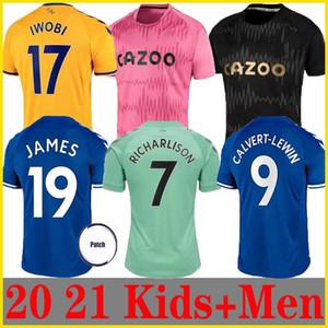 20 21 Everton RICHARLISON pullover di calcio 2,020 2,021 magliette di calcio JAMES CALVERT-LEWIN CALVERT ALLAN trasferta Uomi bambini Walc