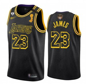 Mens Basketball James 23 Davis 3 Black Mamba Champion Jerseys