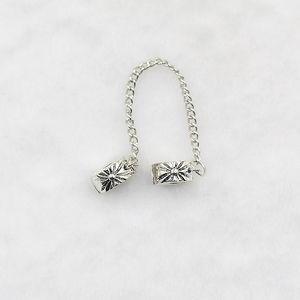 안전 체인 매력 구슬 꽃 눈송이 스토퍼 매력 맞는 팔찌 팔찌 DIY 여성 PS1402