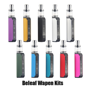 Authentic Beleaf Wapen Wax Vaporizer Starter Kit 450mAh Concentrate Vape Box Mod Kit Variable Voltage Function with Ceramic Chamber