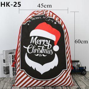 11pcs lot Santa Sacks Christmas Gift Bag Canvas Cotton Elk Santa Claus Drawstring Gifts Bag Santa Bag New Year Gift Decoration wmtXPo