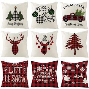 Huiran Noel Yastık Kapak 45 * 45 Yastıklar Yastık Kılıfları Pamuk Keten Yastık Kapakları Atmak Yastık Kapak Ev Dekor