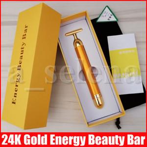 Belleza barra de energía Beauty Bar oro 24K pulso reafirmante facial masajeador de rodillos de masaje facial Masaje de la relajación del cuerpo con los rectángulos