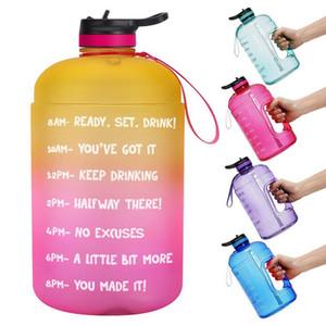 Grande 1 gallone bottiglia tenuta ermetica BPA Free Water con rimovibile Filtro Tempo Marker per essere sicuri di bere abbastanza acqua per sport Palestra Fitness