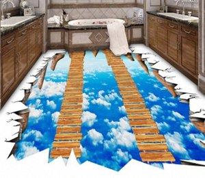 [Self-Adhesive] 3D ponte di legno sulle nuvole 273 Piano Wallpaper murale Stampa Decal Immagini per pareti f5fs #