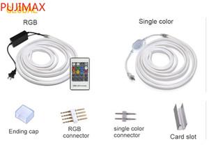 LED de neón tira de cuerda ligera a prueba de agua IP68 LED cinta 220V 110V TV Dimmer Cinta flexible para iluminación exterior Cuttable a 1 Meter