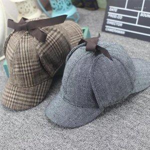 VORON 2020 new High Quality Cosplay Cap Detective Sherlock Holmes Deerstalker Hat Gray Cups New men women Berets Cap1