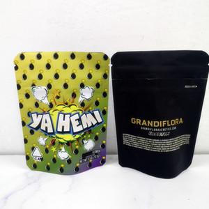 New Arrival 3.5g California Cookies Yahemi Grandiflora Pink Rozay Lemon pepper Snow man Cake Mix Gary payton Packaging Bags