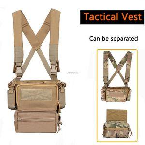 Tactical Chest Vest Accessorie Hunting Cs MOLLE Duty Vest with Magazine Pouch Bag Paintball Combat Vests