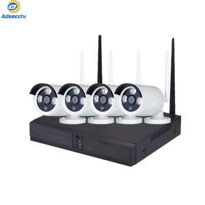 2.0MP caméra sans fil Kits 4CH système Home CCTV vision nocturne étanche wifi NVR Kits de surveillance vidéo Set réel P2P AS-NVK-902KM