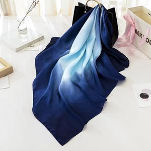 90 * 90 cm Square Scarf Silk NeckersChirf Vestido de Trabalho Stewardess Longo Luxo Bandana Acessórios para mulheres1