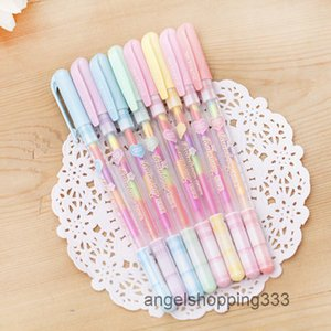 6 Colors In 1 Gel Korean Candy Color Marker Kawaii Letter Paper Pastel Pen Gifts Student Signs Delivery