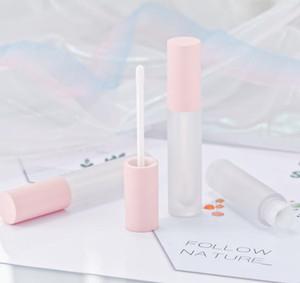 100pcs 10ml opaco capsula rosa lipgloss Contenitori di imballaggio Contenitori Cosmetici Lip Glaze Lip Oil Wand Tubi Trucco Lip Gloss Clear