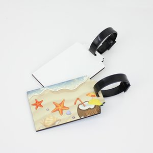 Sublimation Blanks Bags Accessories Cute Novelty MDF Wood Funky Travel Label Straps Suitcase Luggage Tags DHA3084