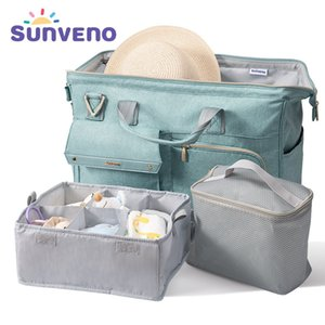 Sunveno Diaper 34L Large Capacity Nappy Waterproof Fashion Mother Shoulder Maternity Baby Travel Bag 3in1 1005