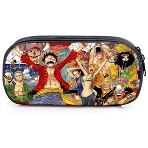 Cute One Piece Cute Stationery Bag Luffy Ace Children Boys Girls Kids Pencil Bag Fashion New High Quality School Supplies Box