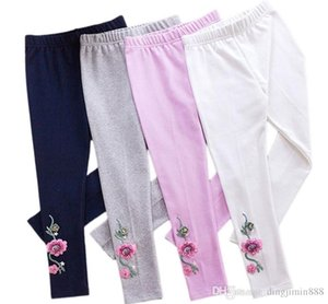 Spring Autumn Girls leggings New Kid Toddlers Warm Comfortable Cotton Soft Lace Butterfly Stretchy Pants