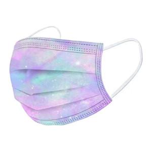 Masques de visage jetables avec boucle d'oreille élastique 3 plis respirant air air anti-pollution mode impression gradient étoilé masque mont masque bouche