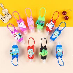 Free 30ml Kids Empty Bottle Cartoon PVC Silicone Mini Hand Sanitizer Holder 1491