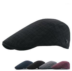Neue hochwertige newsboy cap retro erwachsene baser männer cabbie flatabelle hüte für männer newsboy caps button justieren männer hüte1