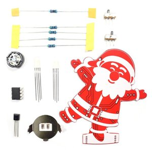 Diy Санта-Клауса Елочные украшения Подвеска музыка Kit 7 Led Lights Переключатель автоматического включения
