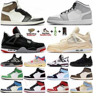 1 Talla grande 13 con caja 1 Travis Scotts Zoom UNC 1s Zapatillas de baloncesto para hombre Jumpman Trainers Designer Sport Sneaker