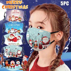 Child mask Scarf Flag Cosplay Kids Fashion Santa Claus Printed Designer Reusable Bandana Scarf Adjustable Festive Cosplay Accessory