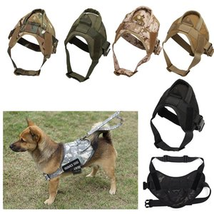 Outdoor Camouflage Dog Clothes Molle Load Jacket Gear Vest Carrier Tactical Dog Training Vest Harnesses P06-202