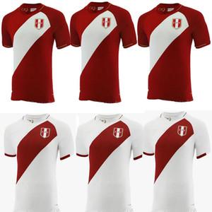 2021 2022 Perú Camisetas de fútbol Home White Away Red Guerrero Farfan Cueva Lapadula Lores Perù Soccer Maglie da calcio Camicia da calcio Uniformi
