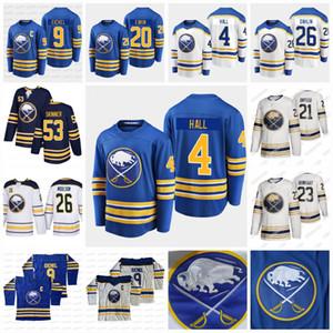 4 Taylor Hall Buffalo Sabres 2021 Royal Blue Jack Rasmus Eichel Dahlin Cody Eakin Hasek Jeff Skinner Victor Okposo Ristolainen Jersey