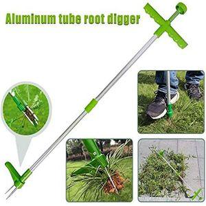 Easy Weeder Puller Aluminum Tube Root Digger Weeder Root Extractor Ripper Weeding Tool