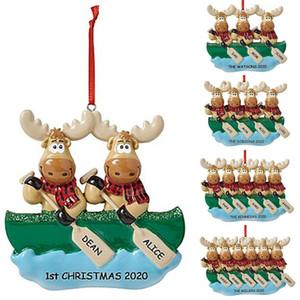 2020 ماشية القوارب قلادة DIY اسم الدعاء شجرة عيد الميلاد شنقا زخرفة عيد الميلاد حزب زينة قلادة T9I00681