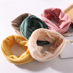 Winter Korean version of 100% pure wool small neck cover scarf high collar accessories for boys and girls to protect the cervical spine