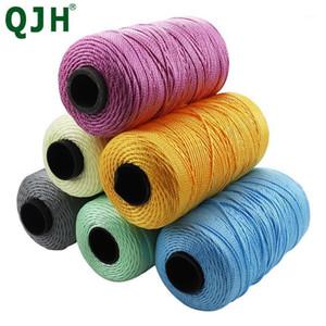 New 230Meters pcs Polyester Cords Three Strands of Rope Silk Thread Hook Circle Loop Manual Cup Thread Car Sofa Cushion1