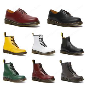 dr martens luxury designer hombres mujeres botas alta calidad triple negro blanco rojo cereza verde azul marino moda marta bota de cuero liso zapatos de invierno
