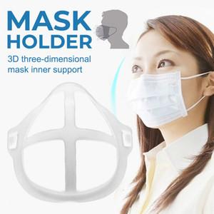 Titulares Máscara DHL navio 3D respirável Válvula Boca Mask Suporte Batom face Proteção Bracket Food Grade Silicone CPA2607